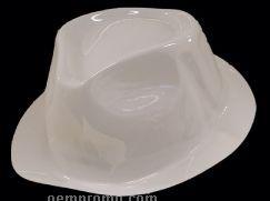White Plastic Gangster Hat