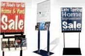 """Floor Stand Display - Black Acrylic Holds 18""""W X 22""""H Posters"""