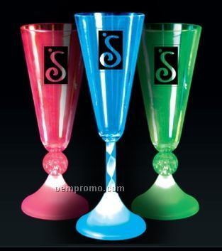 Imprintable Champagne Glasses W/ Ball Stem