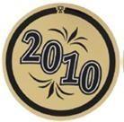 "Mylar - 1"" Year Date ""2010"""