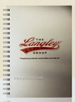 """Cover Series 5 - Silver Alloy Front/Chip Back Medium Notebook (7""""X10"""")"""