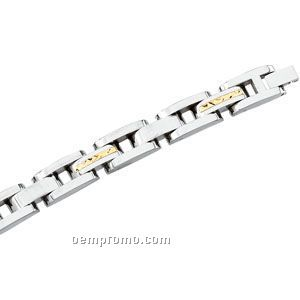 Stainless Steel And 14ky Bracelet