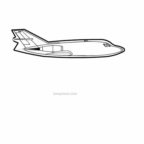 Stock Shape 757 Jet Recycled Magnet