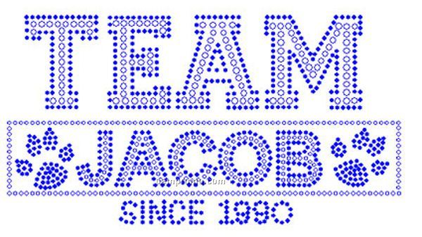 Team Jacob Kids Rhinestone Transfer
