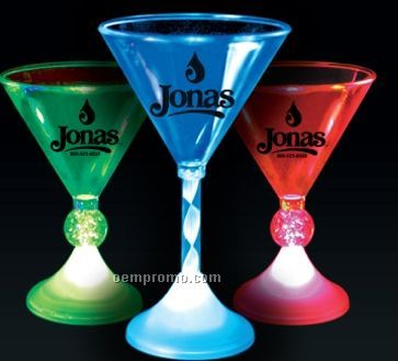 Imprintable Martini Glasses W/ Ball Stem