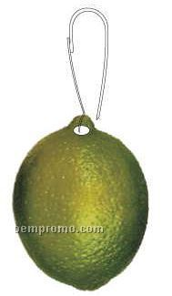 Lime Zipper Pull