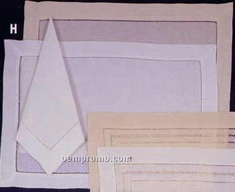 8 Piece Placemat And Napkin Set With Hemstitch