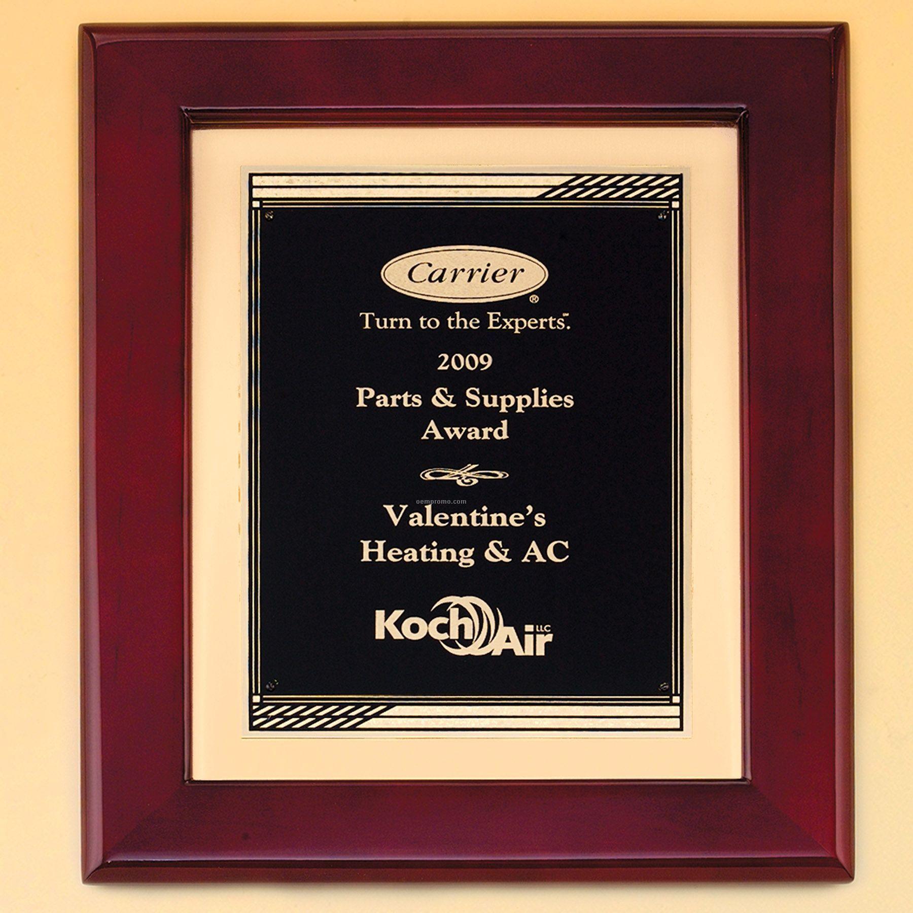 Rosewood Finish Frame W/ Progressive Design Engraving Plate