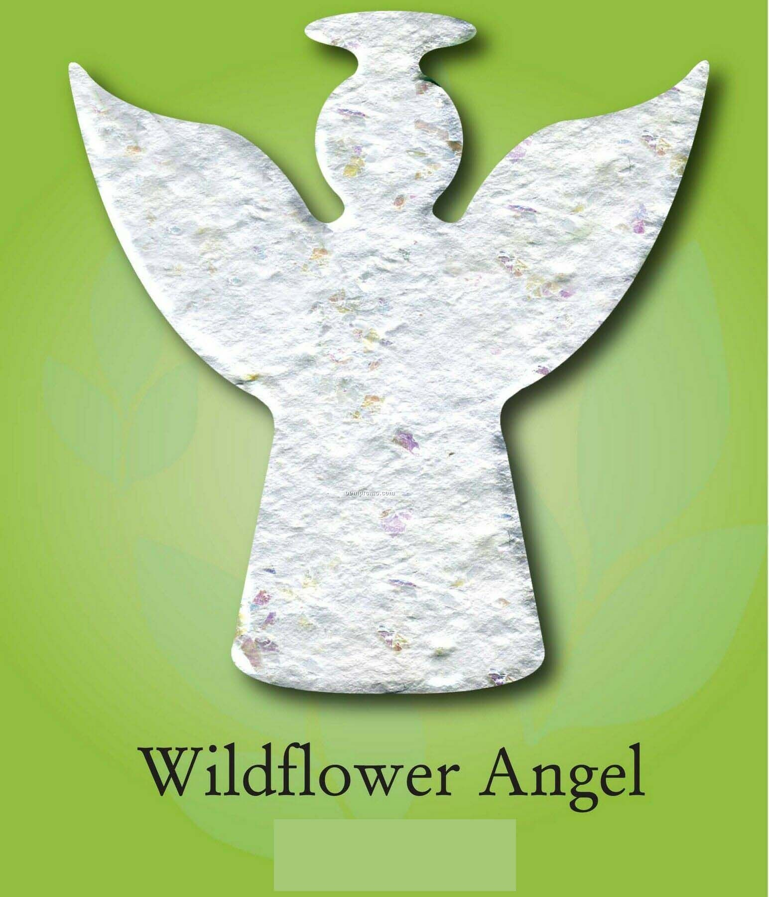 Wildflower Angel Ornament With Embedded Seed