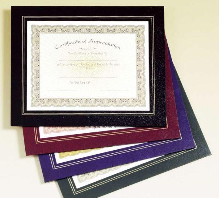 Blue Leatherette Frame Certificate Holder