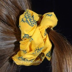 Broadcloth Hair Scrunchie With Allover Print