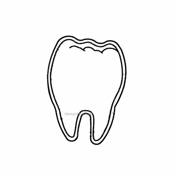 Stock Shape Tooth Recycled Magnet