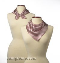"Wolfmark Saville Stripe Polyester Scarf - Pink (21""X21"")"