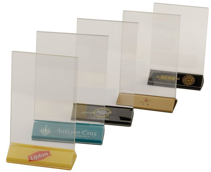counter top table top vertical double sided ad frame