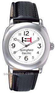 Pedre Torino Watch W/ White Dial/ Silver Trim And Black Strap