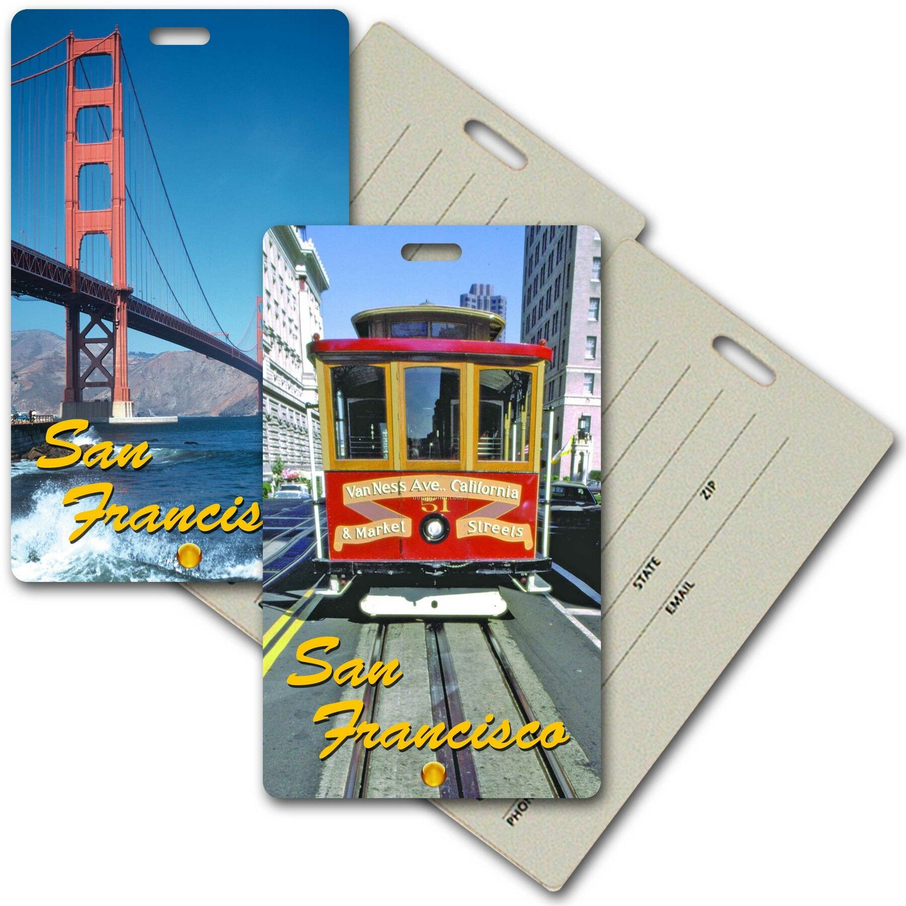 Privacy Tag W/3d Lenticular Images Of San Francisco Landmarks (Imprint)