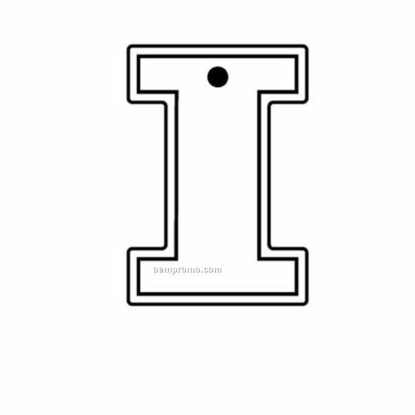 Stock Shape Collection Letter I Key Tag