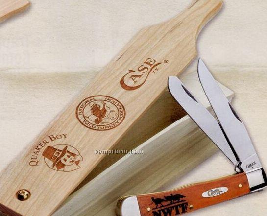 6254ss Nwtf Trapper Knife W/ Turkey Call Gift Set