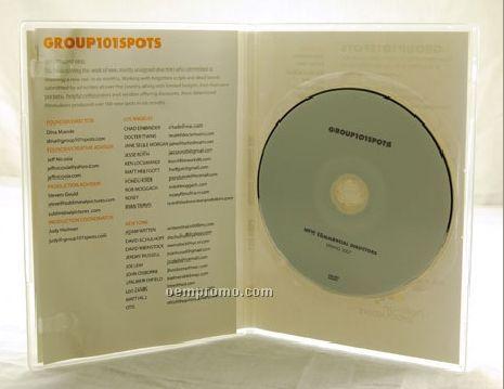 DVD Replication Retail In Clear Slim Amaray Case 4 Panel 4/4 Insert (DVD 9)