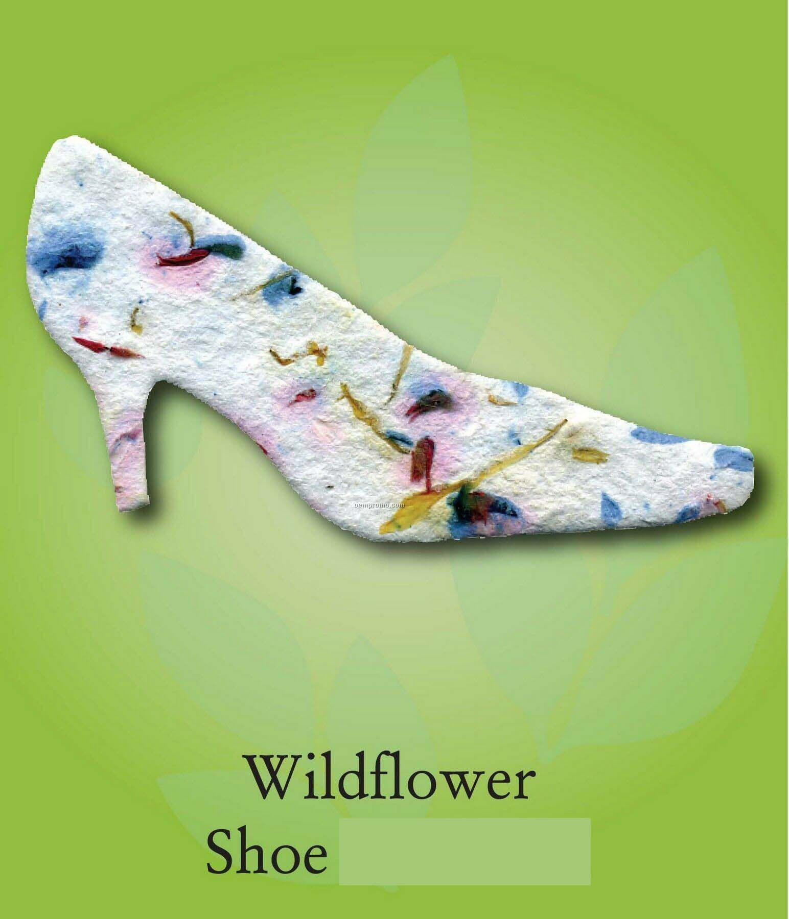 Wildflower Shoe Ornament With Embedded Seed