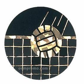 "Black / Gold Hologram Mylar Insert - 2"" Volleyball"