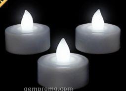 Blank White LED Tea Light Candle