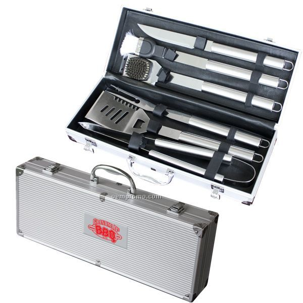 Deluxe 6 PC Stainless Steel Bbq Tool Set