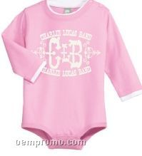 Infant 1 Piece Creeper W/ Long Sleeves & Shoulder Snaps