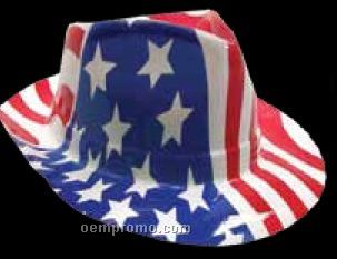Patriotic Plastic Fedora