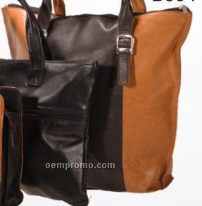 Ladies Dark Brown Candelora Double Handle & Shoulder Strap Bag