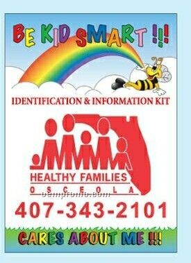 Be Kid Smart Identification Kit For Children (Rainbow & Clouds)