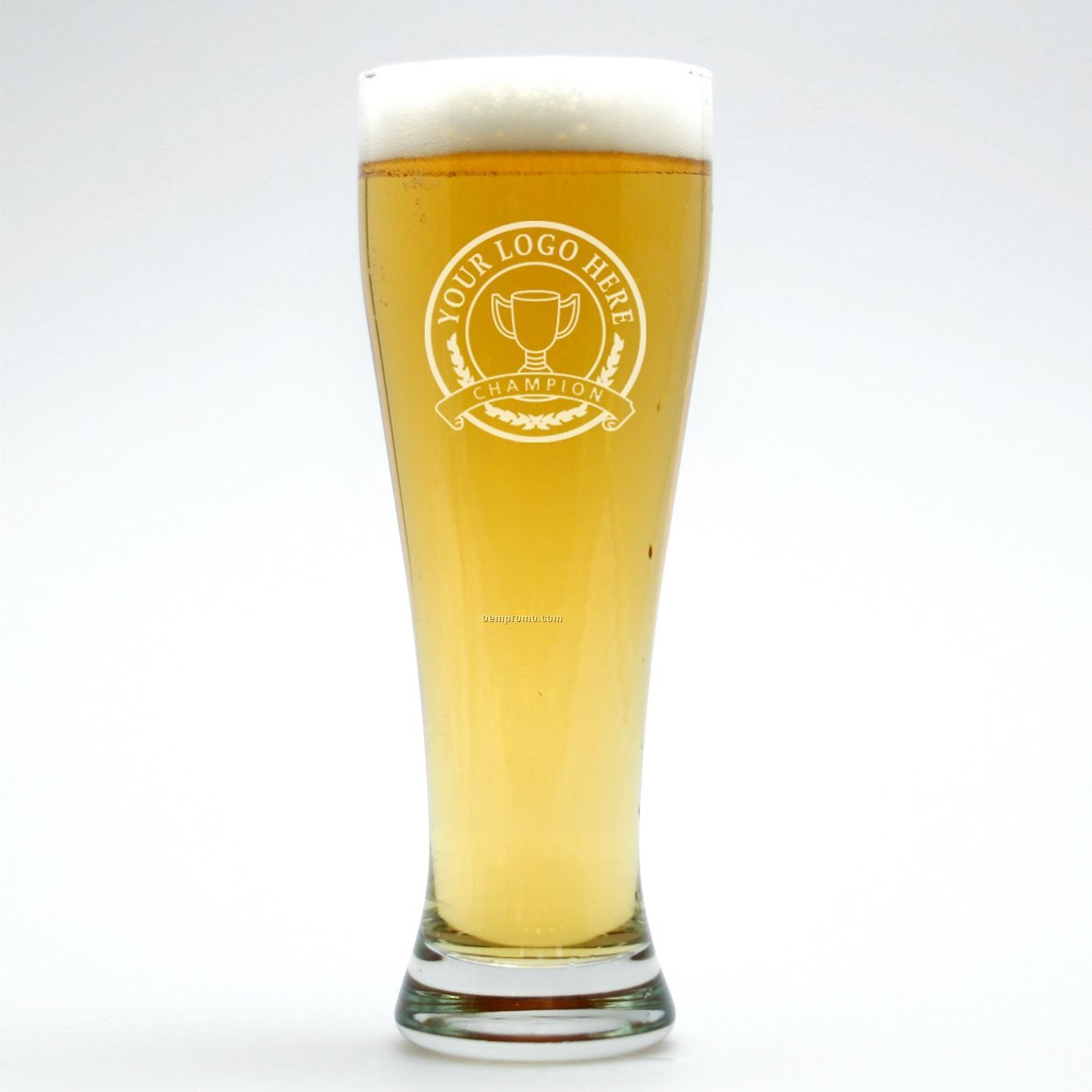 22 Oz. Signature Tall Beer Glass (Set Of 2 - Deep Etch)
