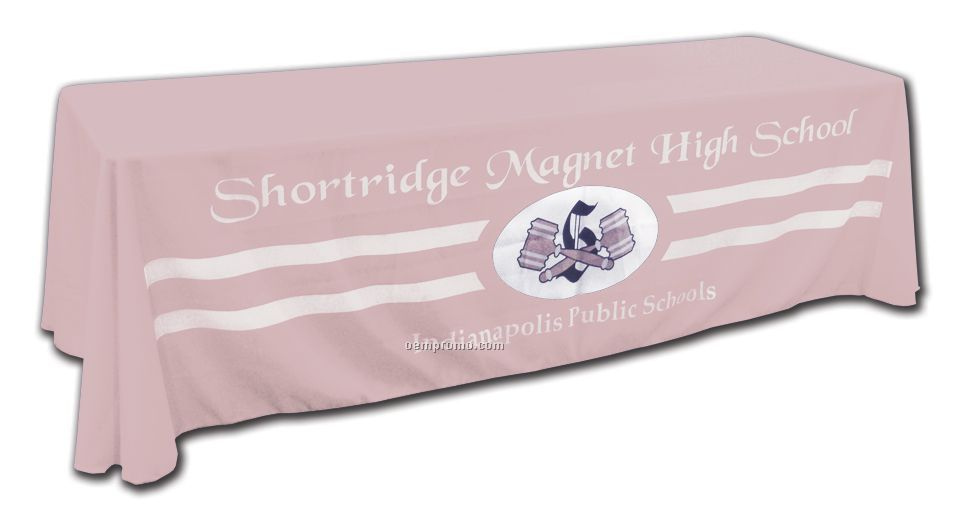 6' - Custom Printed Table Cover Poly Poplin - Light Pink