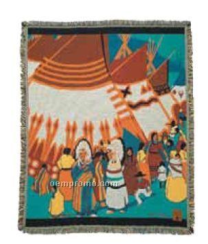Indian Days Cotton Throw Blanket