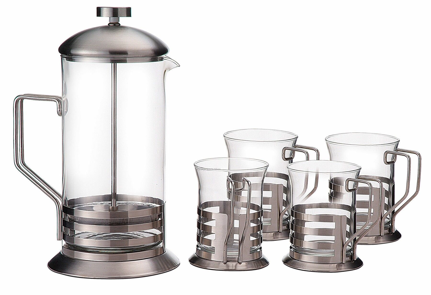 Primula Stainless Exterior Coffee Press 5 Piece Gift Set