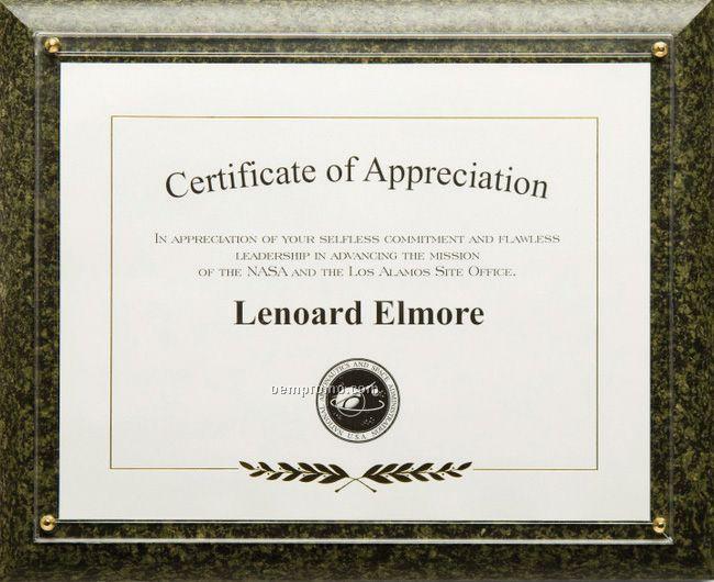 Slide-in Biocomposite Certificate Plaques