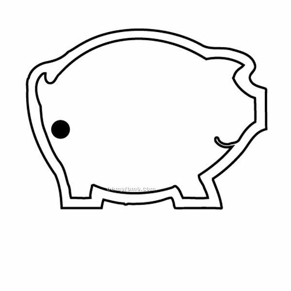 Stock Shape Collection Pig Outline Key Tag