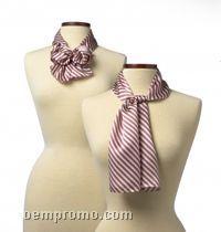 "Wolfmark Saville Stripe Polyester Scarf - Pink (45""X8"")"
