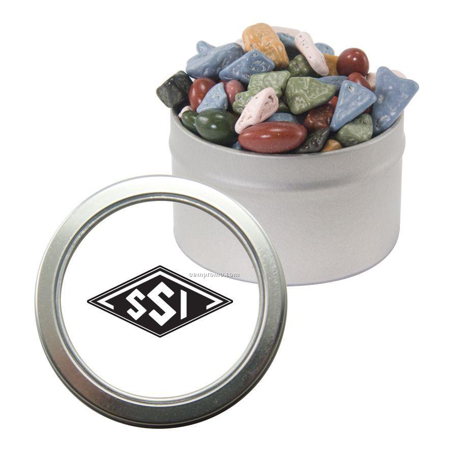 Candy Window Tin With Chocolate Rocks
