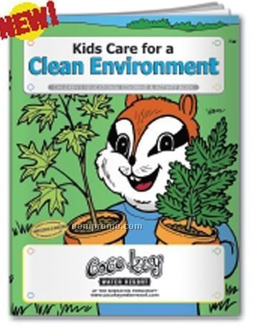 Coloring Book - Kids Care For A Clean Environment