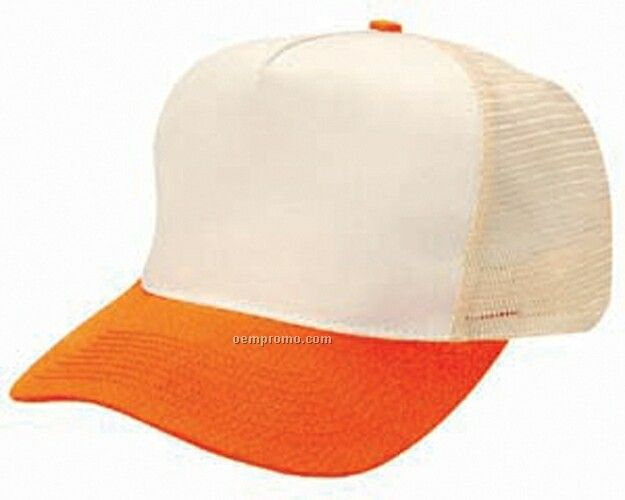 Cotton Twill Mesh Back Golf Cap Without Bolo Braid