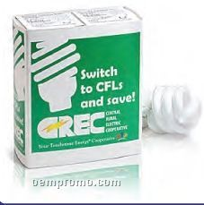 Green Solutions Compact Fluorescent Light Bulbs W/ Sleeve Single