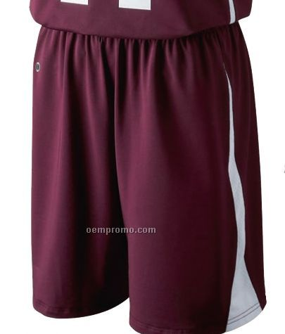 Ladies Mansfield Nylon Spandex Basketball Shorts W/ Side Stripes (Colors)