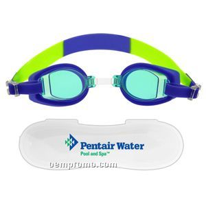 The Porpoise Swim Goggles W/ Case - Blue/ Green - 23 Hours