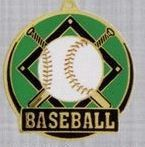 "2"" Color-filled Stock Medal - Baseball"