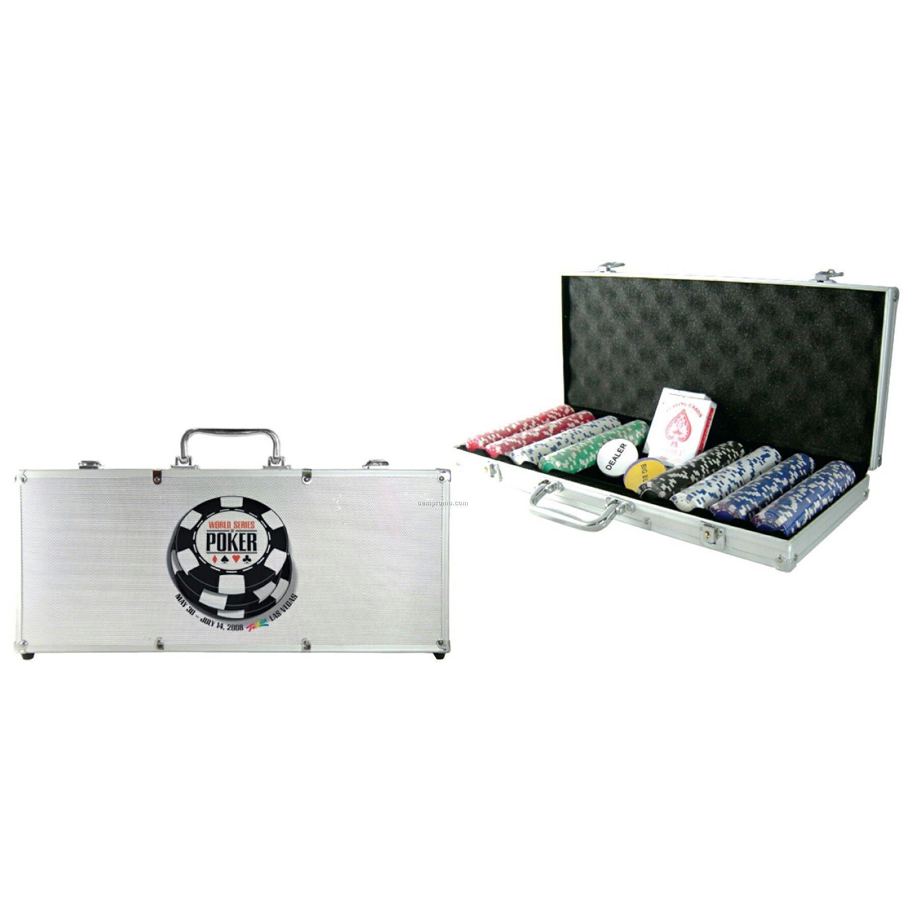 400-piece Poker Chip Set W/Silver Case ( Blank)