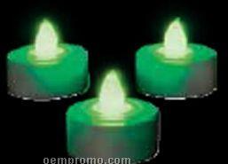 Blank Green LED Tea Light Candle