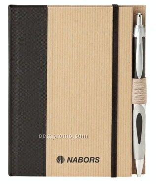 Eco Perfect Bound Hard Cover 2-tone Journal & Pen Combo