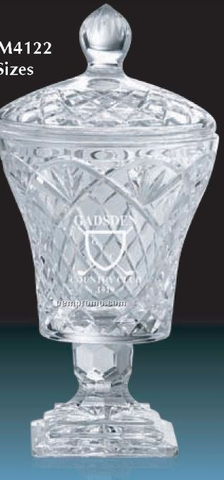 Hand Cut Lead Crystal Vase Awards / 16""