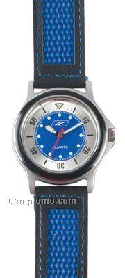 Pedre Varsity Sport Watch W/ Blue Leather Strap